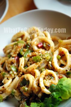 Squid with Peppers and Black Bean Sauce