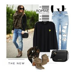 """""""New contest ROMWE- Banana Sweatshirt"""" by melisa-j ❤ liked on Polyvore featuring moda, Genetic Denim, MICHAEL Michael Kors, Faith Connexion, Monsoon, Envi, American Eagle Outfitters y romwe"""