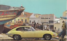 Jaguar XK-E 2+2 Family Coupe, advertising postcard, USA, # n.a.
