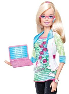 Barbie, The Computer Geek. Barbie, The News Anchor Barbie I, Barbie World, Barbie And Ken, Barbies Dolls, Barbie Stuff, Barbie Dream, Dolls Dolls, Doll Toys, Engineering Toys