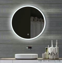 Custom make all kinds of circular mirrors Backlit Mirror, Circular Mirror, Diffused Light, Led, Light Fittings, Incandescent Bulbs, Modern Design, Vanity, Bathroom