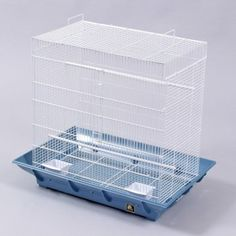 Prevue Pet Products Ceana Clean Life Flight Cage SP853  The sites I've found say that a wide cage is more important to a parrotlet than a tall cage (birds aren't helicopters.)
