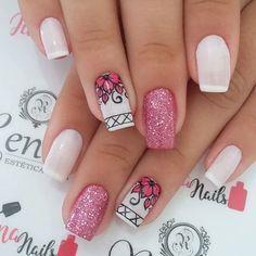 diy nails at home Cute Acrylic Nails, Cute Nails, Pretty Nails, Nail Art Designs, Simple Nail Designs, Nails Design, Spring Nails, Summer Nails, Nagel Gel