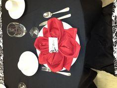 Fold a Fancy Napkin DIY: Flower fold napkin.
