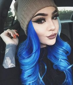 No matter you want wigs for daily wear or fashion wigs for festival and prom party, do not miss our trendy wigs in different colors. Ombre colored wigs hot sale here. Blue Green Hair, Blue Wig, Hair Color Blue, Cornrows For Little Girls, Colorful Lace Front Wigs, Colorful Hair, Colored Wigs, Transitioning Hairstyles, Human Wigs