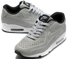 sports shoes 23baf a15ed Bon Marché Remise Nike Air Max 90 Carved Sur Vente Chaussures De Sport Gris  Blanc Vente