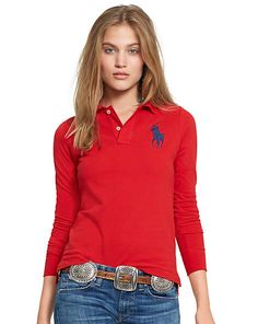 520bb7df4d3 Skinny-Fit Big Pony Polo - Polos Polo Shirts - RalphLauren.com Fashion  Documentaries