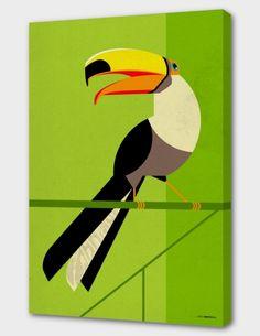 Tucan als Premium Poster von Dieter Braun Art Prints Uk, Framed Art Prints, Canvas Prints, Vogel Illustration, Graphic Design Illustration, Animal Posters, Art Mural, Wall Art, Art Graphique