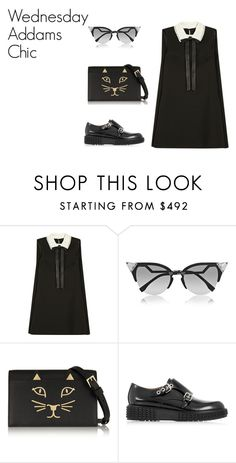 """What I Want To Wear: Wednesday Addams Chic"" by hashtagliz on Polyvore featuring Valentino, Fendi and Charlotte Olympia"