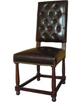 Caleb Tufted Dining Chair - BROWN