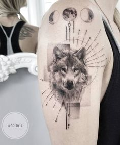 60 Amazing Wolf Tattoos - The Best You'll Ever See - Straight Blasted Nature Tattoo Sleeve, Wolf Tattoo Sleeve, Nature Tattoos, Sleeve Tattoos, Rib Tattoos, Circle Tattoos, Eagle Tattoos, Skull Tattoos, Chest Tattoo