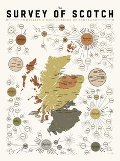 """the survey of scotch: whiskies & distilleries of scotland - 18"""" x 24"""" $29 - i've got somebody on my christmas list who will love this..."""