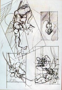 """Spider-Man Sketches & Prelims.                  This design by J. Scott Cambell were drafted for the modern series """"the amazing spiderman"""""""