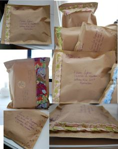 Easy cute way to make a mailing envelope!