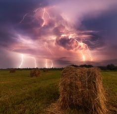 The Storm Over The Vologda Fields by Sergey Sutkovoy Find more like this tagged: lightning