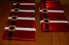 Cute way to wrap Christmas gifts