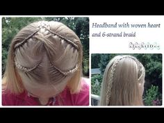 Headband with woven heart and 6-strand braid - Haarband met geweven hart en 6-strengen vlecht : Subscribe to see more video's:http://bit.ly/1CWAiw7 Tutorial ...