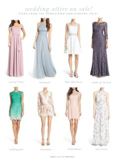 Great deals on wedding attire from the Nordstrom Anniversary Sale 2017