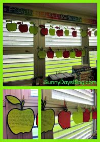Sunny Days in Second Grade: Open House in Pix & Freebies!