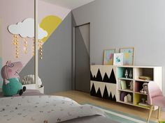 Wicked 17 Fabulous Kids Bedroom Decoration Ideas That Inspire You Make a kids bedroom decor should still be considered in advance in accordance with the wishes of children rather than decorating other rooms. Cute Girls Bedrooms, Awesome Bedrooms, Kids Bedroom Designs, Kids Room Design, Bed Design, Baby Bedroom, Bedroom Decor, Bedroom Kids, Style Deco