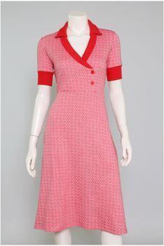 mod retro 60s 70s fashion Burda Dress Pattern 7828 met kraag