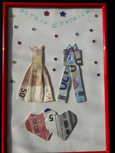Creative Money Gifts, Money Origami, Wedding Gifts, Decoration, Presents, Anniversary, Diy Crafts, Drawings, Ideas