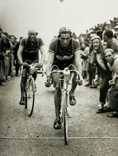 Fausto Coppi leading Gino Bartali - 1949 Tour de France