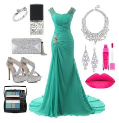 """""""prom/wedding"""" by rabiahk on Polyvore featuring Kate Spade, Lane Bryant, BCBGMAXAZRIA, GUESS, Carolee and Lancôme"""