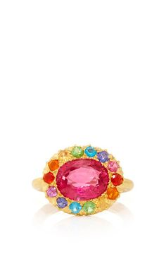 Princess D. Marguerite Spinel and Multicolored Stones Ring by Marie-Hélène de Taillac for Preorder on Moda Operandi