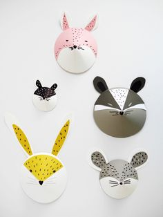 DIY animal paper masks...for fun or for the wall...link on here http://www.parents.com/videos/v/83060585/kid-craft-cute-paper-animal-heads.htm?q=animal+paper+mask for video tutorial...