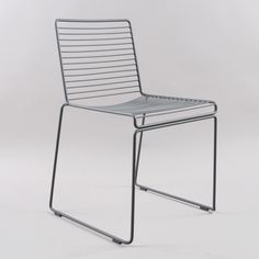 HAY Hee Dining Chair - Grey/Grey Gliders (Image 1)
