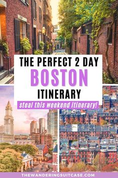 2 days in Boston The perfect 2 day itinerary for Boston, USA, covering what to do, see and experience when you're in Boston, New England Boston Things To Do, Boston What To Do, Fun Things, Living In Boston, Boston Usa, Boston Travel, Travel Usa, Airline Travel, Beach Travel