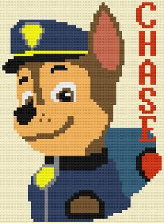 Paw Patrol C2C Graph | Craftsy C2c, Paw Patrol, Crochet, Creative, Pattern, Crafts, Fictional Characters, Cross Stitch, Needlepoint