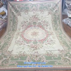6x9ft New Finished Hand Carved Aubusson Carpet From Yilong Carpet