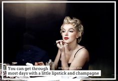 #champagnequote Champagne Quotes, Lipstick, Lifestyle, Concert, Day, Movie Posters, Movies, Films