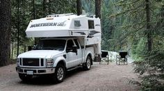 Northern Lite 8-11 Truck Camper, Nairn Falls Provincial Park, British Columbia, http://www.truckcampermagazine.com/camper-lifestyle/cant-afford-keep-working/