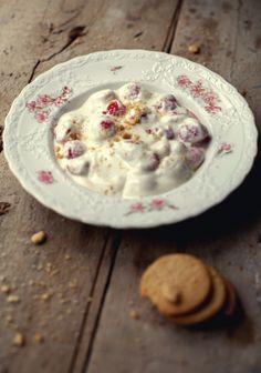 Cream cheese, yogurt and raspberry cookie dip // Trempette à biscuits au fromage à la crème, yogourt & framboises