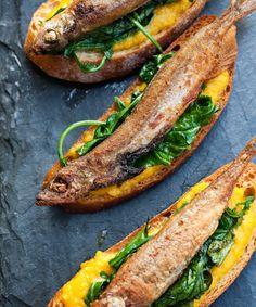 sardine crostini - could it be done on parmesan crisps or cauliflower crusts? I think so!