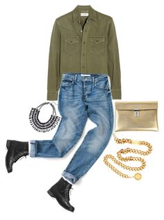"""""""street style"""" by ecem1 ❤ liked on Polyvore featuring Yves Saint Laurent, Avenue, Golden Goose and Chanel"""