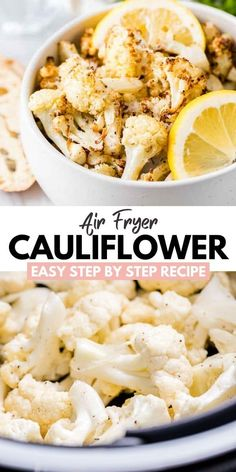 Air Fryer Cauliflower is crispy, delicious, and ready to eat in under 20 minutes! Make this recipe as an easy side or a snack with your favorite dip. Fun Easy Recipes, Easy Healthy Dinners, Healthy Recipes, Light Recipes, Delicious Recipes, Healthy Food, Dinner Recipes, Most Popular Recipes, Favorite Recipes