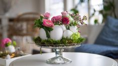 Easter Tree Decorations, Easter Wreaths, Table Decorations, Easter Table, Easter Eggs, Diy Osterschmuck, Decoration Entree, Diy Ostern, Deco Floral