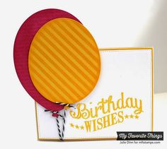 Birthday Chalkboard Greetings, Happy Birthday Background, Balloon STAX Die-namics, Diagonal Stripes Stencil - Julie Dinn #mftstamps