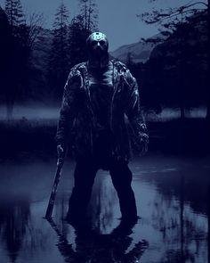 ~Friday The ~Slasher King ~Jason Voorhees ~ Jason Voorhees, Foto Poster, Poster Print, Slasher Movies, Horror Movie Characters, Jason Friday, Friday The 13th, Happy Friday, Horror Posters