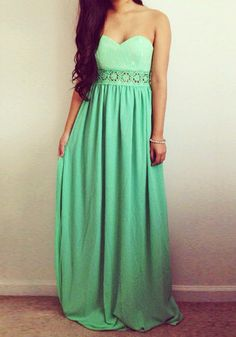 Floral Cutout Waist Maxi Dress. All that is missing is a flower crown!