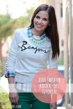 ASOS sweater knock-off tutorial