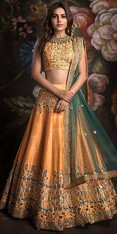 New Lengha Choli Indian Wedding Designer Lehenga Bollywood Ethnic Wear Lengha:-bangalori Silk With Embroidery Blouse:- Bangalori Silk With Embriodery Duppata :- Net With Border (* All Image Are Only For Reference Purpose, Design And Colour May Varies. Lehenga Choli Designs, Bridal Lehenga Choli, Lengha Choli Designer, Lehenga Chunni, New Lehenga, Orange Lehenga, Raw Silk Lehenga, Choli Dress, Lehenga Suit