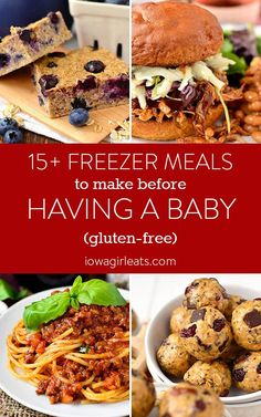 Factors You Need To Give Thought To When Selecting A Saucepan 15 Healthy And Delicious Freezer Meals To Make And Freeze Before Having A Baby Or Surgery Gluten-Free, Easy To Make, And Satisfying Too. Paleo Freezer Meals, Freezer Friendly Meals, Freezer Cooking, Cooking Tips, Freezable Meals, Gluten Free Frozen Meals, Gluten Free Meal Plan, Gluten Free Recipes To Freeze, Corn Dog Muffins