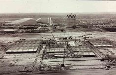 Here is what a barren Roosevelt Field looked like in 1955, as construction began of Macy's largest suburban store in the east. The famed Roosevelt Field mall would open in 1956 as an open-air mall, with space for 11,000 cars. For years, it struggled, losing $8 million in total in 1962 and 1963, but its fortune turned around in 1968 when the shopping center was enclosed.