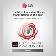 GSMAs award for Most Innovative Device Manufacturer of the Year. Nice!