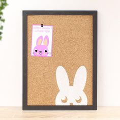 Pinboard White Bunny, Notice Board, Kids Room Decoration, Memoboard Memo Boards, Cork Boards, Kids Room Wall Art, Wall Art Decor, Room Decor, Some Bunny Loves You, Storage Places, Beginning Of School, Practical Gifts